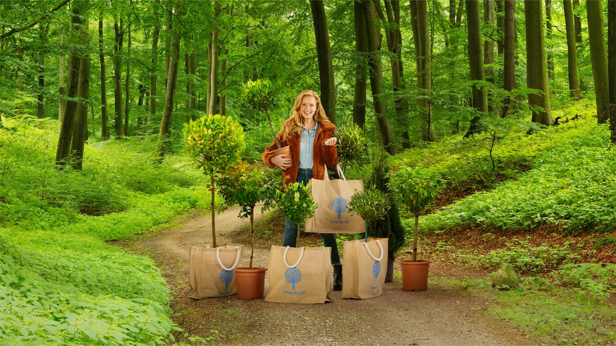 TRUE IDEAS CREËERT 'KOM SHOPPEN IN HET BOS' CAMPAGNE  VOOR TREES FOR ALL